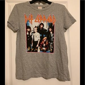 Vintage style Def Leppard band t shirt tee
